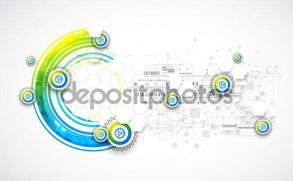 Abstract blue business science