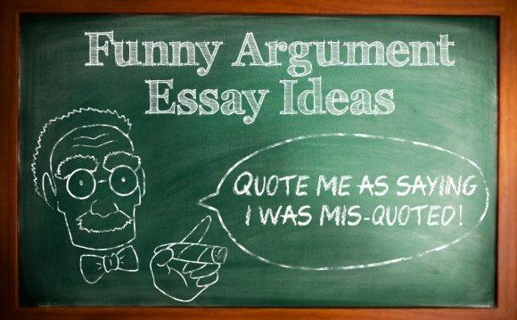 Funny Argumentative Essay