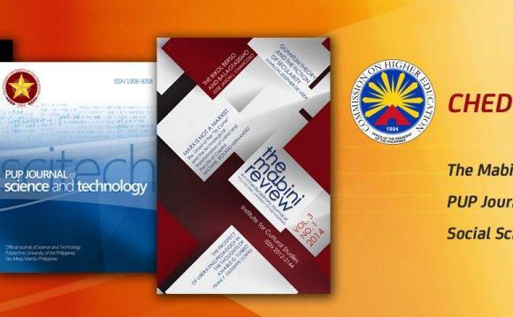 Three University Journals Now