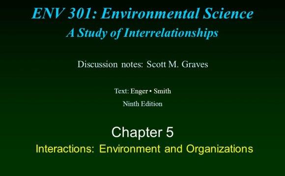 1 ENV 301: Environmental
