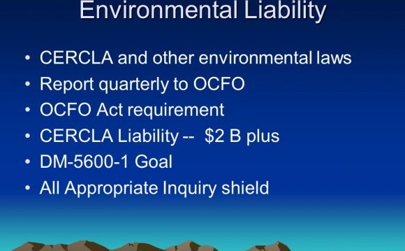 Environmental Liability CERCLA