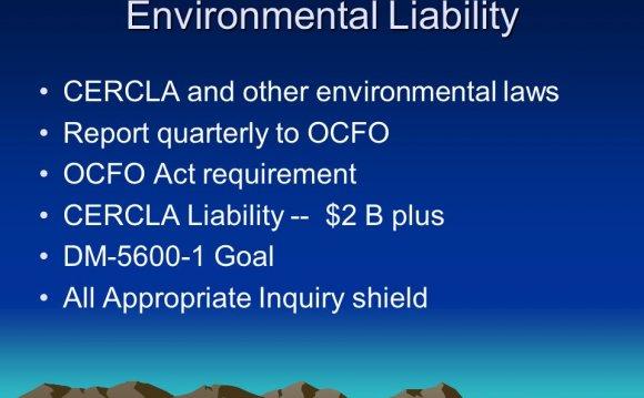 Environmental Liability CERCLA