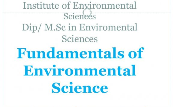 Sciences Fundamentals of