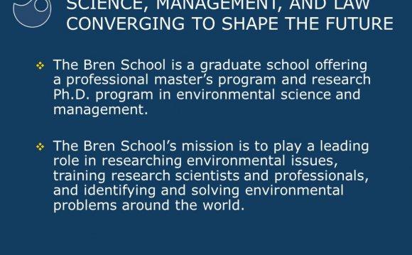 A graduate school offering