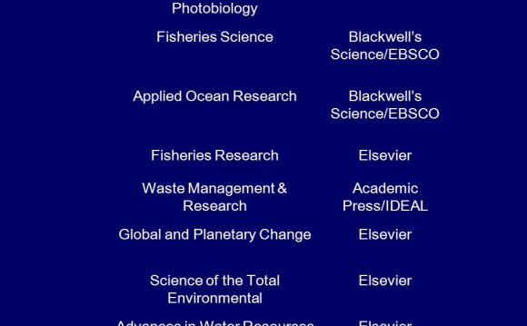 Elsevier Environmental Journal