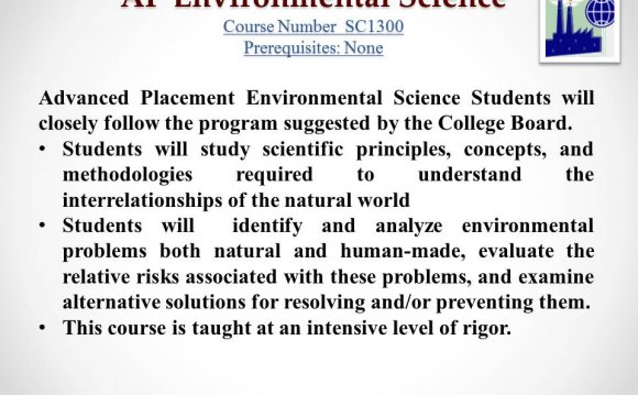 Environmental Science Syllabus College