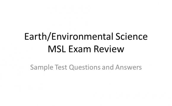 Environmental Science test questions