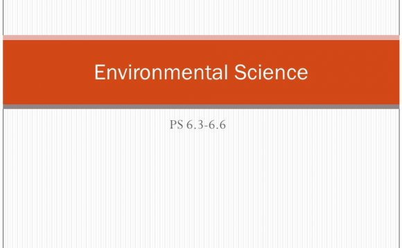 Environmental Science Standards