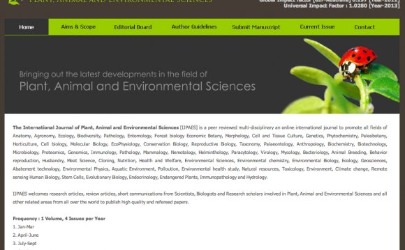 International Journal of Environmental Science and Technology