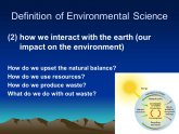 Definition of Environmental Science