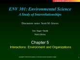 Environmental Science a study of interrelationships