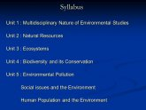 Multidisciplinary nature of Environmental Studies