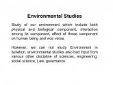 Scope of Environmental Studies