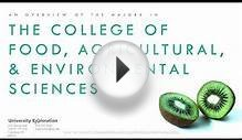College Overview: Food, Agricultural, & Environmental Sciences