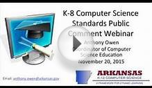 K 8 Computer Science Standards Public Comment Webinar
