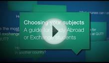 QUT – Choosing subjects – a guide for study abroad and