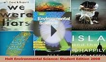Read Holt Environmental Science Student Edition 2008 PDF